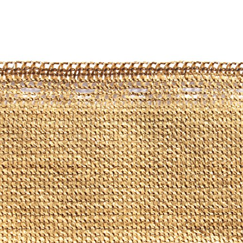 ALEKO-6-x-150-Feet-Beige-Fence-Privacy-Screen-Windscreen-Shade-Cover-Mesh-Fabric-Roll-with-Lock-Holes-0-0