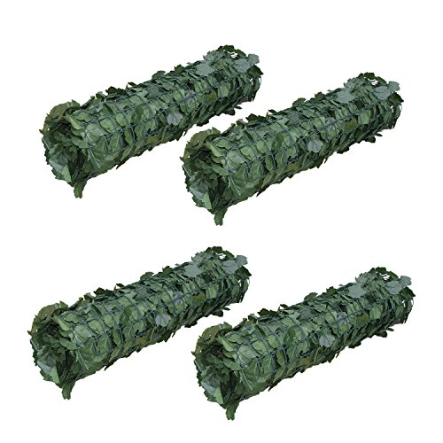 ALEKO-94-X-39-Faux-Ivy-Privacy-Artificial-Fence-Screen-Hedge-Wall-or-Fencing-Outdoor-Decoration-Lot-of-4-0
