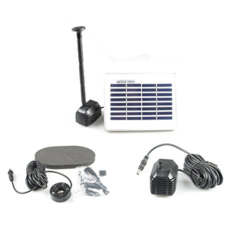 Asc solar water pump garden pool pond kit farm garden for Solar water pump pond