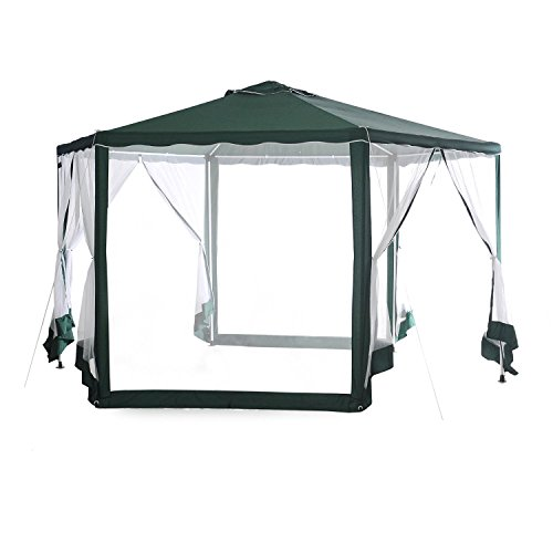 Abba-Patio-13D-x-11W-Outdoor-Hexagonal-Gazebo-with-Mosquito-Net-Sun-Shade-Shelter-0