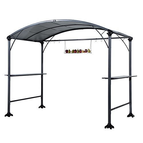 Abba-Patio-9-x-5-Outdoor-Backyard-BBQ-Grill-Gazebo-with-Steel-Canopy-Gray-0