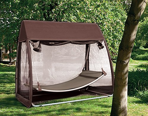 Abba Patio Outdoor Canopy Cover Hanging Swing Hammock With