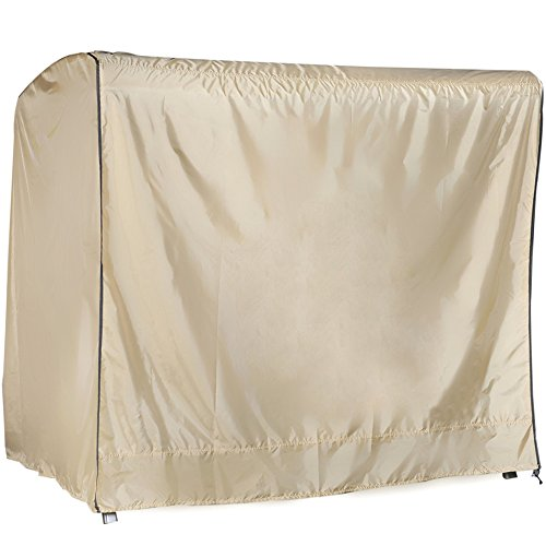 Abba-Patio-OutdoorPorch-3-Triple-Seater-Hammock-Canopy-Swing-Cover-All-Weather-Protection-Tan-Color-0