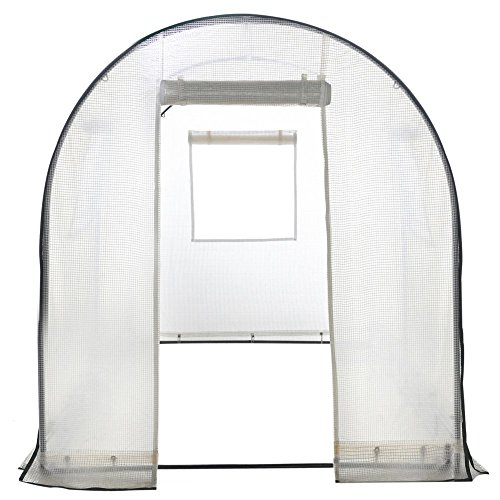 Abba-Patio-Walk-in-8L-x-6W-x-66H-Greenhouse-Fully-Enclosed-Lawn-and-Garden-Portable-Outdoor-Tent-with-Windows-White-0-0