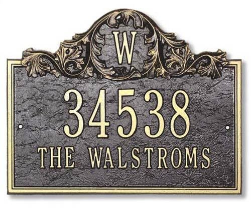 Acanthus-Monogram-Address-Plaque-0