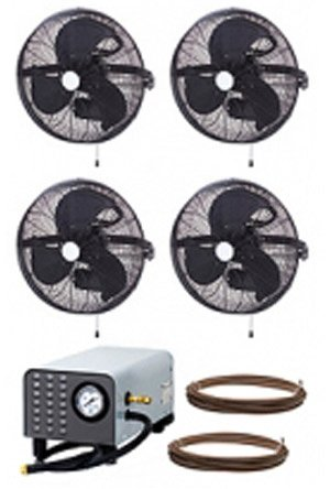 Advanced-Misting-Systems-MEDIUM-PRESSURE-Mist-Pumps-300psi-18-4-Fan-Wall-Mount-0