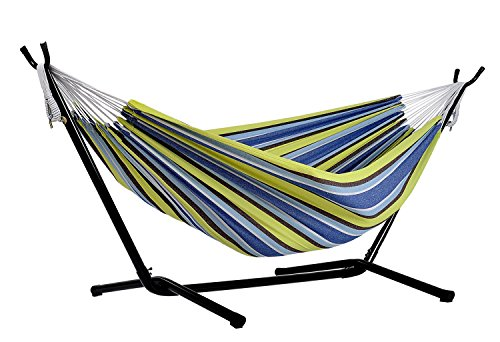 Afranker-Double-Hammock-with-Space-Saving-Steel-Stand-0