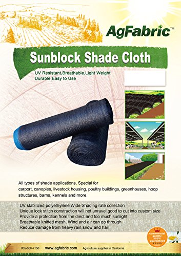 Agfabric-50-10ft-X-100ft-Sunblock-Shade-Cloth-for-Plant-Cover-Greenhouse-Barn-or-Kennel-Pool-Pergola-or-Carport-Cut-Edge-UV-Resistant-Fabric-0