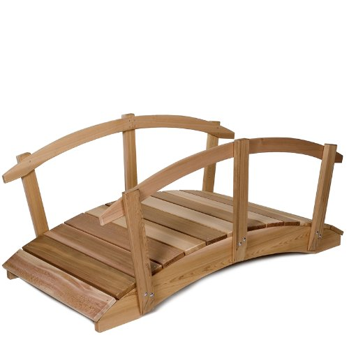 All-Things-Cedar-FB72U-R-Garden-Foot-Bridge-with-Hand-Rails-6-Foot-0