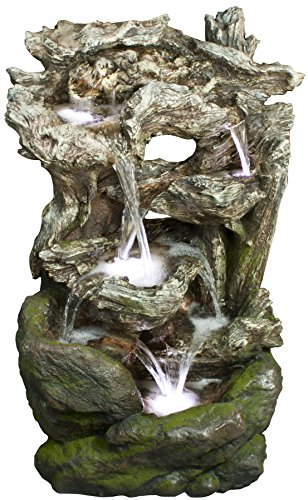 Alpine-WIN732-Rainforest-Waterfall-Fountain-with-Led-Lights-0