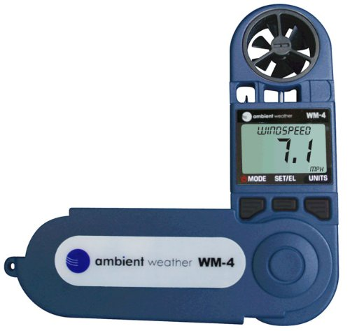 Ambient-Weather-WM-4-Handheld-Weather-Station-w-Windspeed-Direction-Temperature-Humidity-Compass-Dew-Point-Comfort-Index-Psychrometer-0
