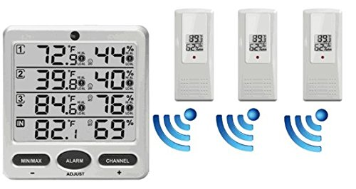Ambient-Weather-WS-10-X4-Wireless-IndoorOutdoor-8-Channel-Thermo-Hygrometer-with-Four-Remote-Sensors-0