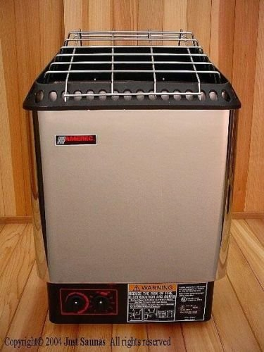 Amerec-Sauna-DesignerB-6KW-Sauna-Heater-with-rocks-and-controls-mounted-to-unit-0