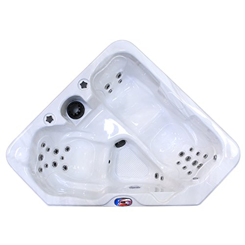 American-Spas-AM-628TM-2-Person-28-Jet-Triangle-Spa-with-Backlit-LED-Waterfall-0