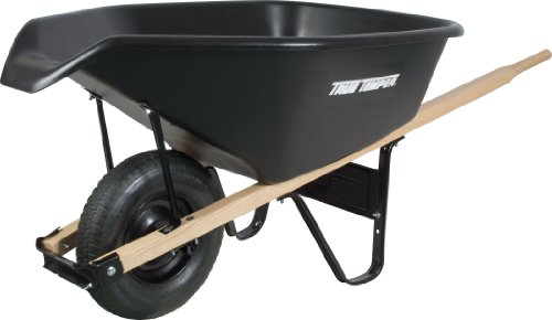 Ames-CP6PS-Poly-Wheelbarrow-6-Cubic-Feet-Black-0