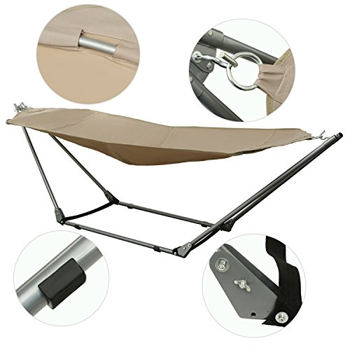 Ancheer-Portable-Outdoor-Canvas-Hammock-with-Stand-and-Carrying-Bag-with-Shoulder-Strap-0-1