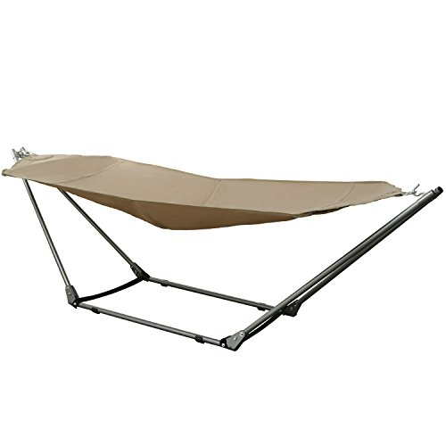 Ancheer-Portable-Outdoor-Canvas-Hammock-with-Stand-and-Carrying-Bag-with-Shoulder-Strap-0