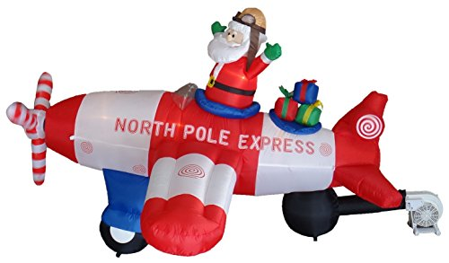 animated 8 foot wide christmas inflatable santa claus - Blow Up Christmas Decorations