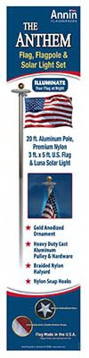 Annin-Flagmakers-742371-Anthem-US-Flag-Pole-Kit-20-Ft-0
