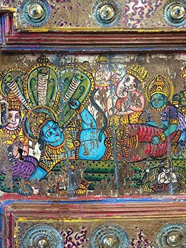 Antique Doors Hindu Hand Painted Barn Door