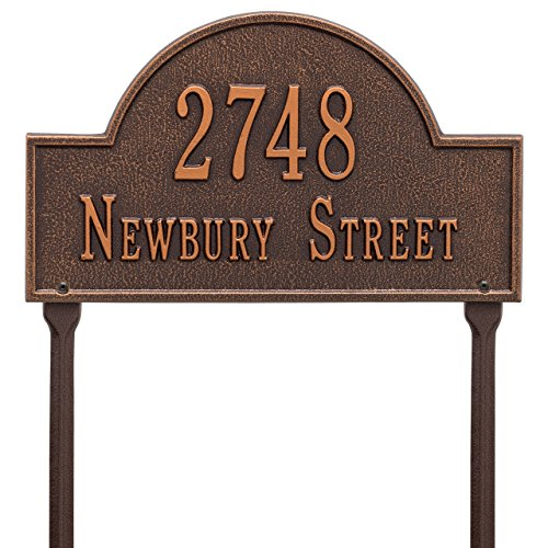 Arch-Marker-Lawn-Address-Plaque-2-Lines-0