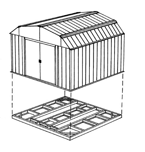 Arrow-FDN1014-Storage-Shed-Base-Kit-for-10×12-10×13-10×14-Arrow-sheds-0-1