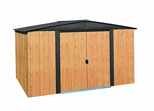 Arrow-WL108-Woodlake-10-Feet-by-8-Feet-Steel-Storage-Shed-0