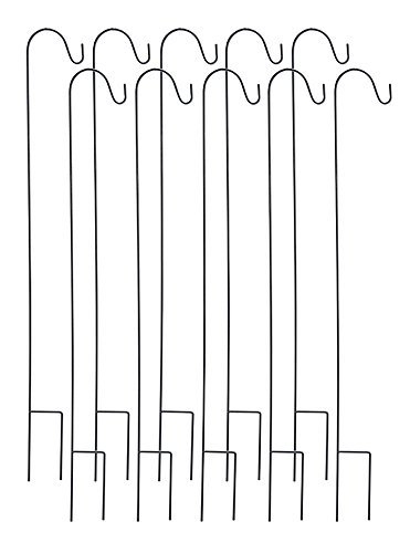 Ashman-Shepherd-Hook-48-Inch-10-Pack-Rust-Resistant-Steel-Hooks-Ideal-For-Hanging-Plant-Baskets-Solar-Lights-Lanterns-Bird-Feeders-Insect-Repellents-More-0