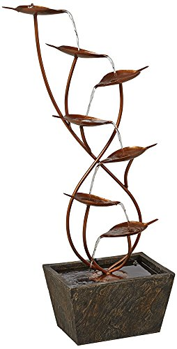 Ashton-Curved-Leaves-Indoor-Outdoor-Copper-Floor-Fountain-0