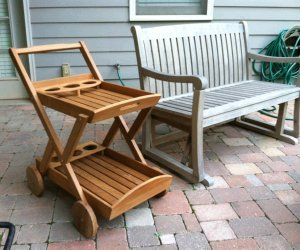 Atlanta Teak Furniture Teak Trolley Cart Grade A