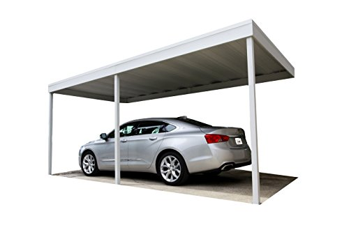 10x20 Carport Flat Roof : Attached patio cover carport galvanized steel and