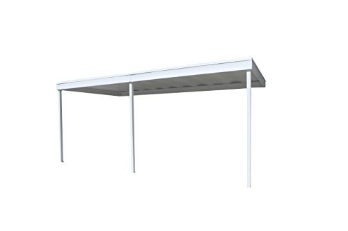 Attached-Patio-CoverCarport-10x20-Galvanized-Steel-and-Vinyl-Coating-Eggshell-FinishFlatroof-0