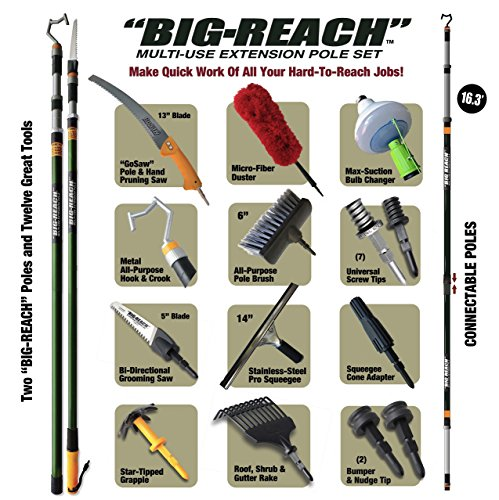 BIG-REACH-Multi-Use-Extension-Poles-Complete-Property-Maintenance-Set-4ft-22ft-Reach-NEW-0