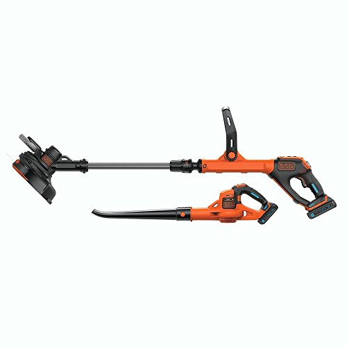 black decker lcc520bt 20v smartech max easy feed string trimmer and power boost sweeper combo