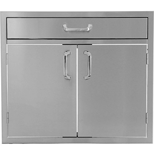 Bbqguyscom-Kingston-Series-30-inch-Stainless-Steel-Double-Door-Single-Drawer-Combo-0