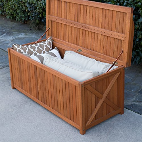 Belham-Living-Brighton-48-in-Outdoor-Storage-Deck-Box-with-Cushion-Natural-Durable-and-Comfortable-100-Polyester-Khaki-Cushion-0-0