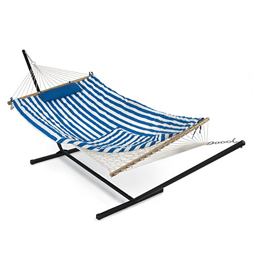 Belleze-12-ft-Rope-Hammock-Combo-with-Stand-Pad-and-Pillow-iPad-and-Cup-Holder-Combo-0
