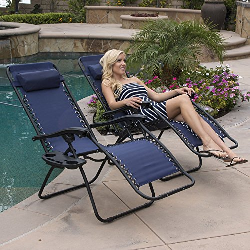 Belleze-2-Pack-Zero-Gravity-Chairs-Patio-Lounge-Cup-HolderUtility-Tray-Blue-0-0