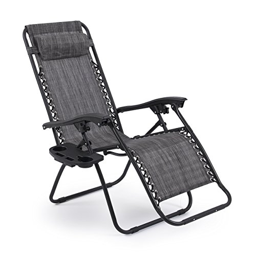 Belleze Premium Patio Chairs Zero Gravity Folding Recliner