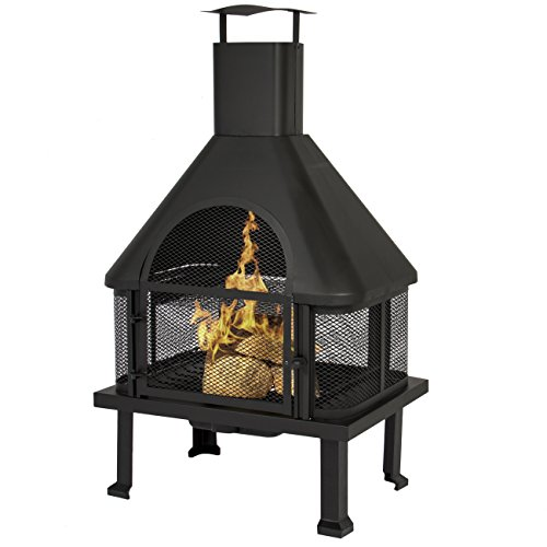 Outdoor Chimney Parts : Best choice products firehouse fire pit with chimney