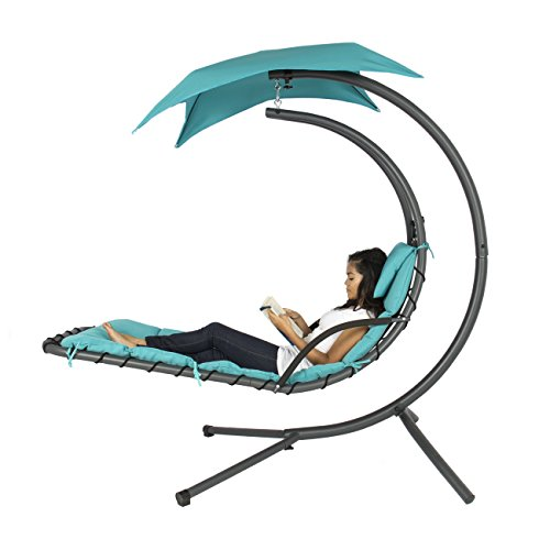 Best-Choice-Products-Hanging-Chaise-Lounger-Chair-Arc-Stand-Air-Porch-Swing-Hammock-Chair-Canopy-Teal-0