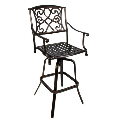 Best-Choice-Products-Outdoor-Cast-Aluminum-Swivel-Bar-stool-Patio-Furniture-Antique-Copper-Design-0
