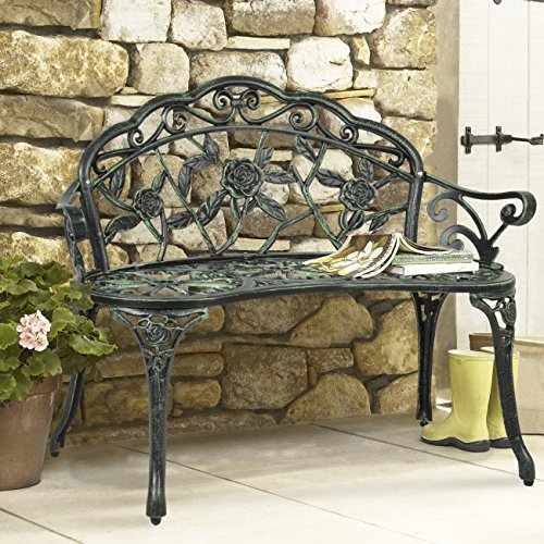 Best-Choice-Products-Outdoor-Patio-Garden-Bench-Park-Yard-Furniture-Cast-Iron-Antique-Rose-Design-0
