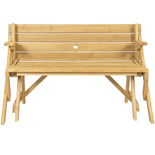 Best-Choice-Products-Patio-2-in-1-Outdoor-Interchangeable-Picnic-Table-Garden-Bench-Wood-0-1