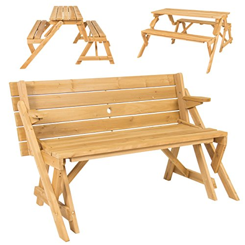 Best-Choice-Products-Patio-2-in-1-Outdoor-Interchangeable-Picnic-Table-Garden-Bench-Wood-0