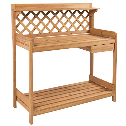 Best-Choice-Products-Potting-Bench-Outdoor-Garden-Work-Bench-Station-Planting-Solid-Wood-Construction-0