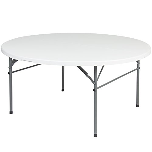 Best-Choice-Products-Round-Bi-Fold-Plastic-Folding-Kitchen-Indoor-Outdoor-Dining-Table-60-White-0