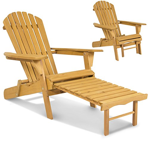 Best-Choice-Products-SKY2254-Outdoor-Patio-Deck-Garden-Foldable-Adirondack-Wood-Chair-with-Pull-Out-Ottoman-0