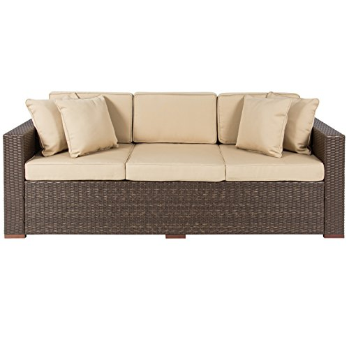 Best-ChoiceProducts-Outdoor-Wicker-Patio-Furniture-Sofa-3-Seater-Luxury-Comfort-Brown-Wicker-Couch-0-0