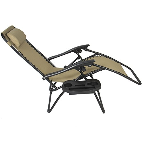 Best Choiceproducts Zero Gravity Chairs Tan Lounge Patio